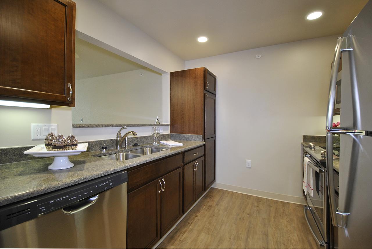 Kitchen interior of Grandhaven Manor apartment