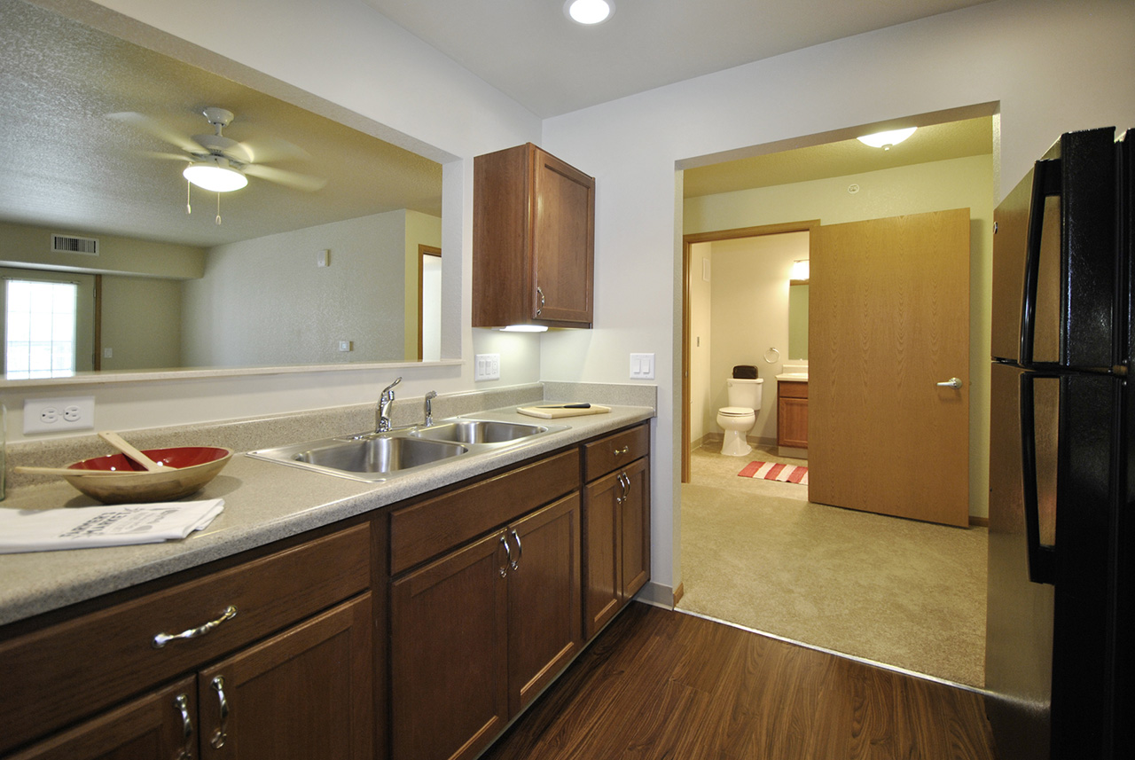 Interior kitchen space at Grandhaven Manor apartment