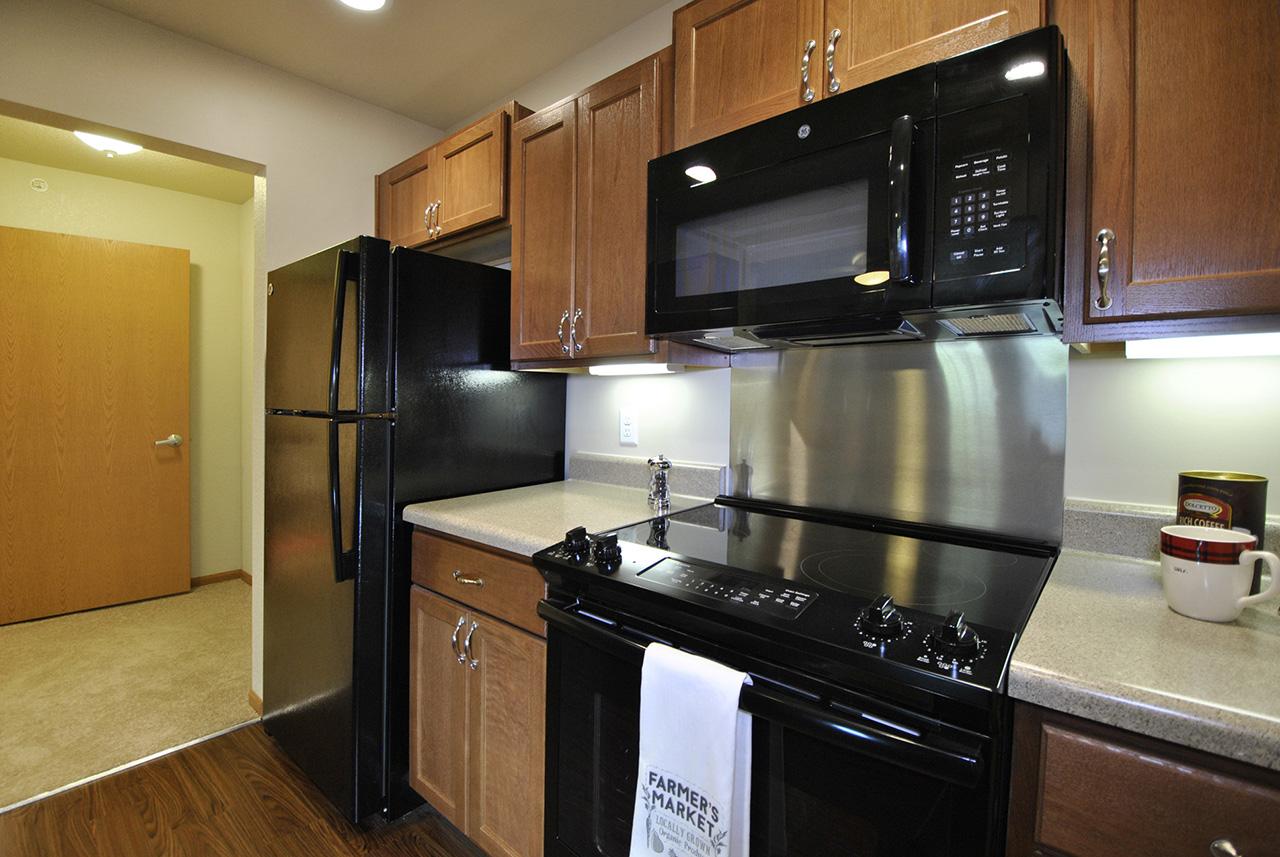 Kitchen appliances in Grandhaven Manor apartment