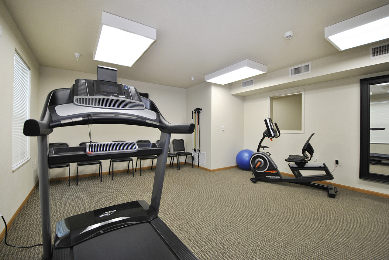 Fitness equipment at Grandhaven Manor