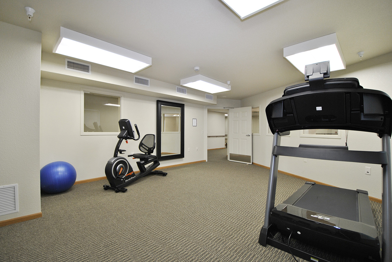 Fitness center at Grandhaven Manor