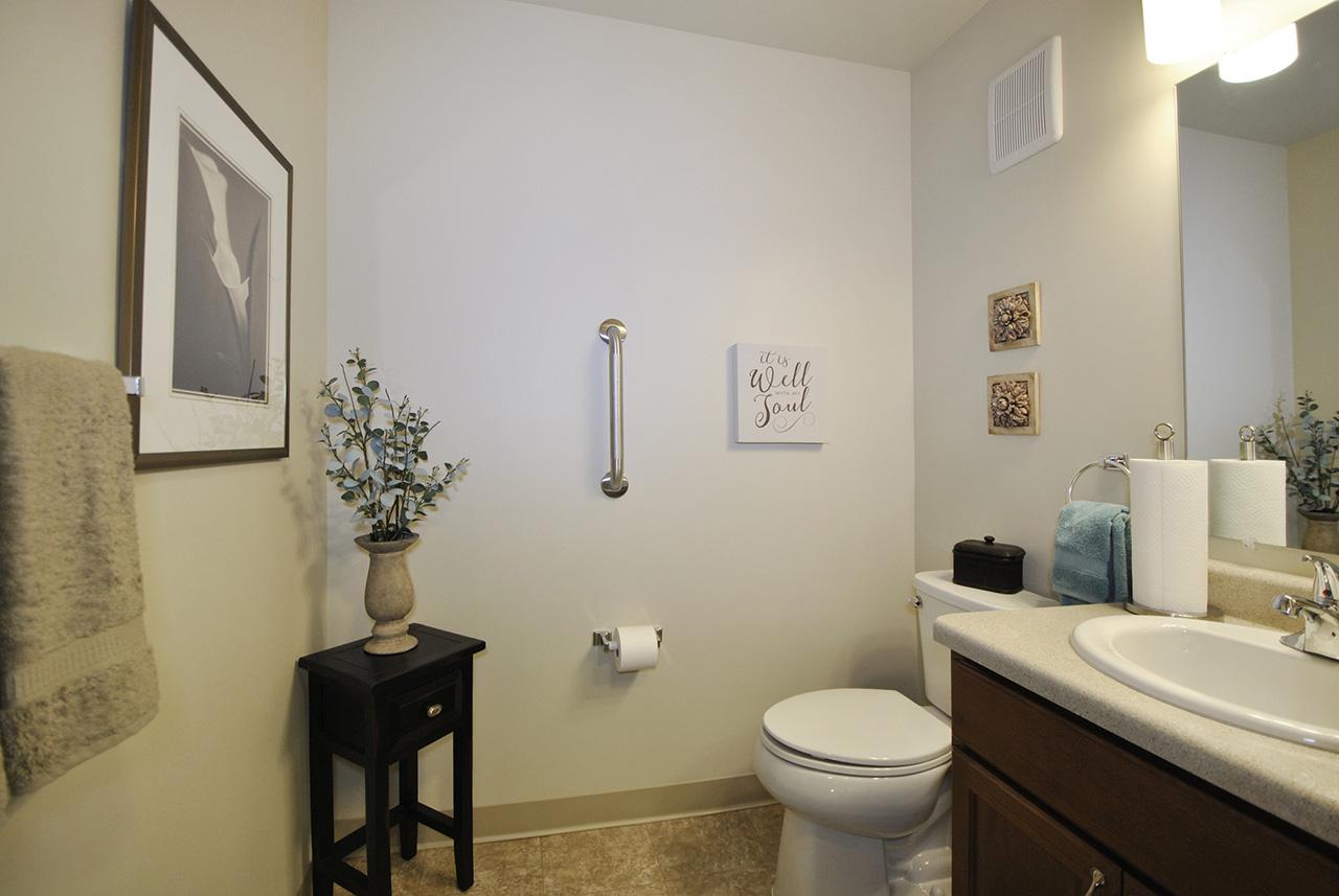 Interior bathroom of Grandhaven Manor bathroom