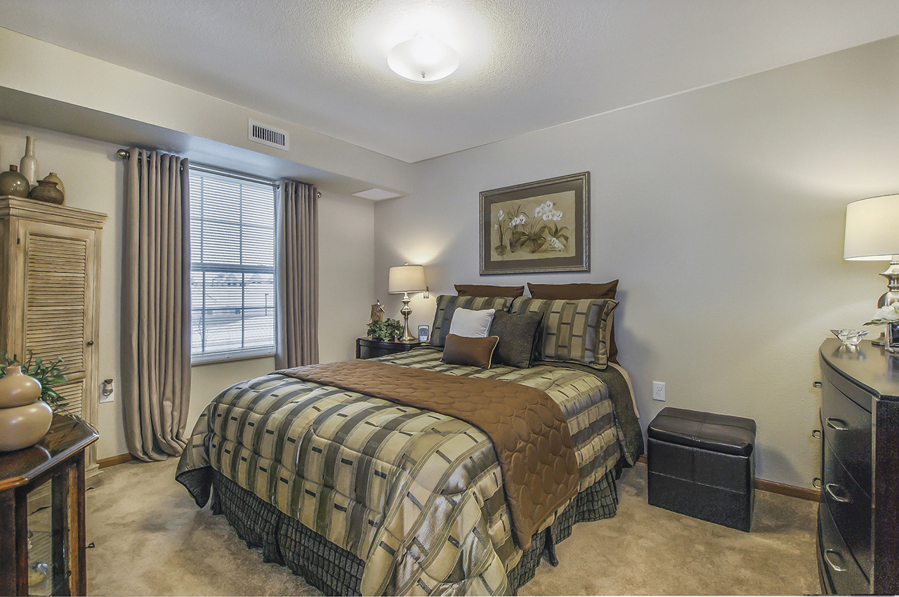 Bedroom of Grandhaven Manor apartment