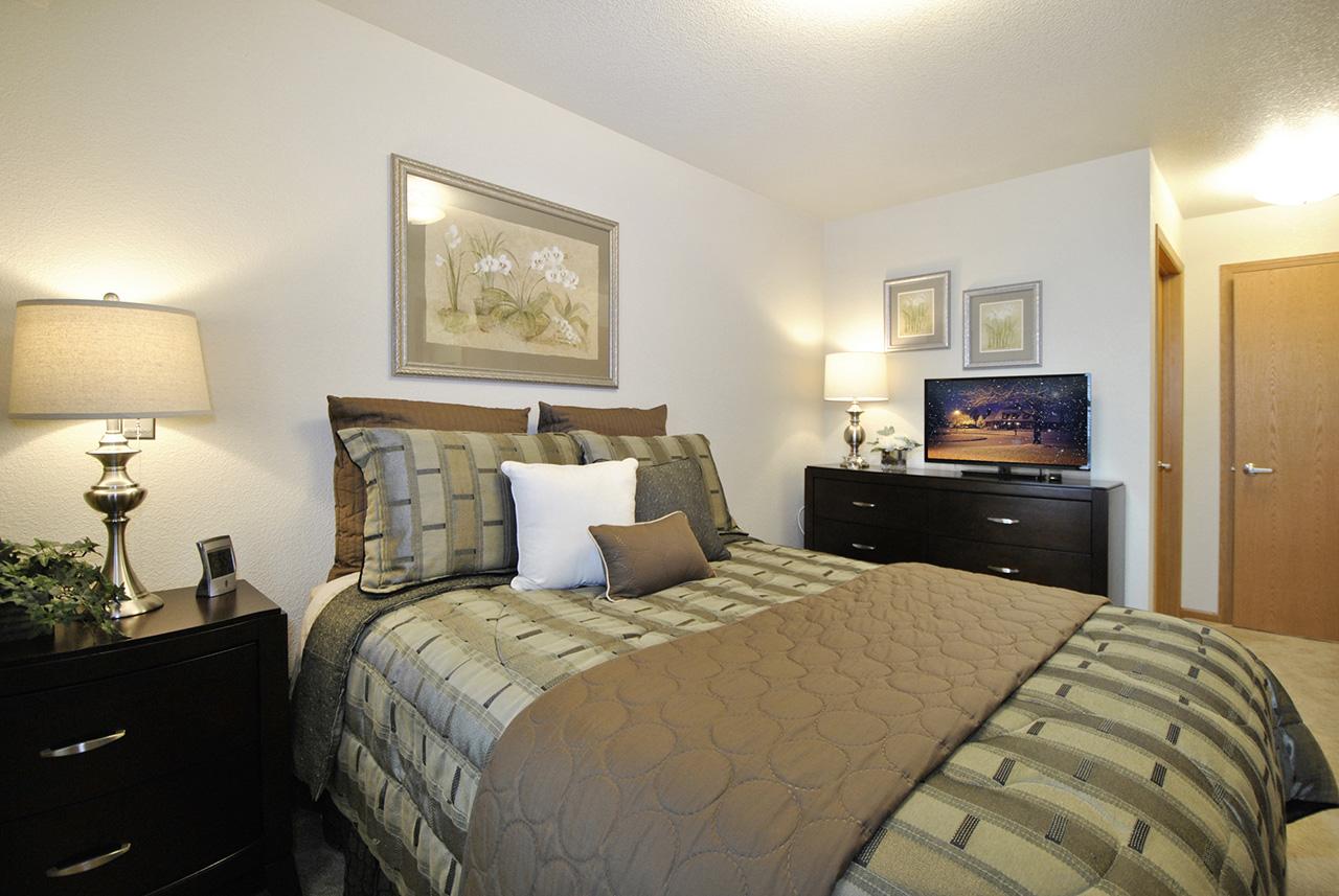 Bedroom interior at Grandhaven Manor apartment