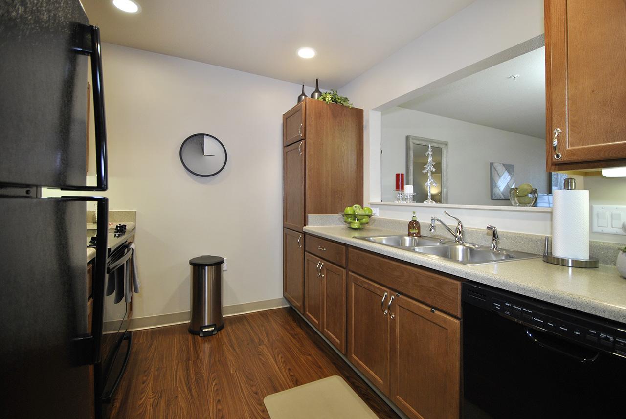 Interior kitchen at Grandhaven Manor