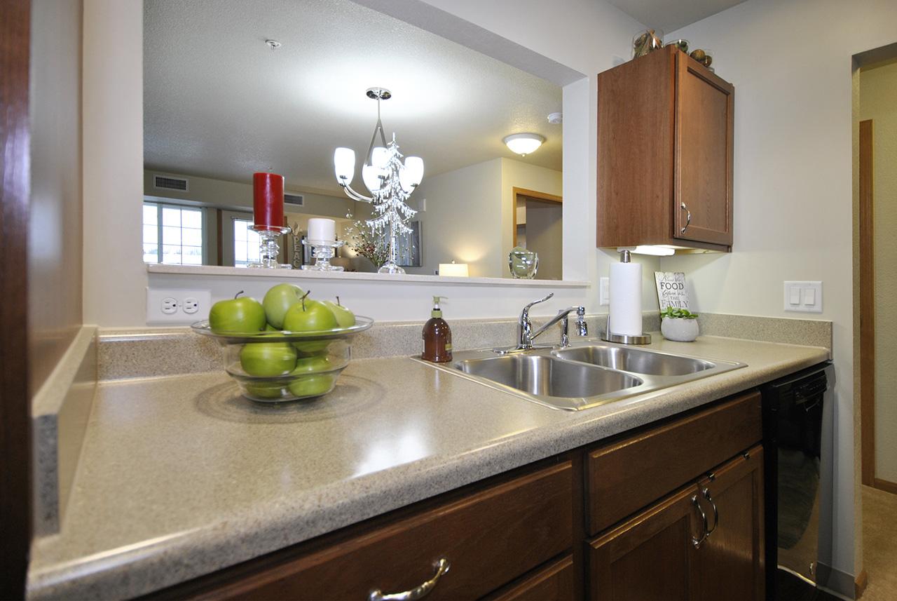 Kitchen sink in Grandhaven Manor apartment