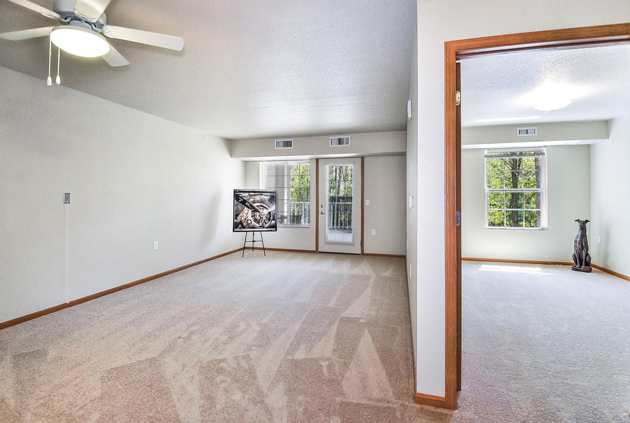 Empty interior rooms at Grandhaven Manor